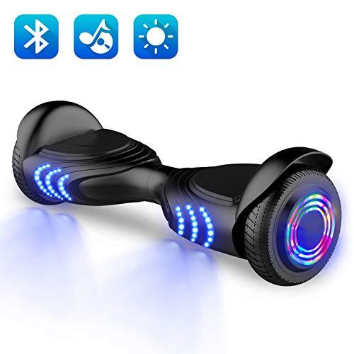 2WD Hoverboard Self Balancing Scooter Auto-équilibrage 6.5 Pouces Electrique Scooter UL Certifié avec Haut-Parleur stéréo sain intégré de Bluetooth (Noir)