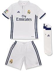 adidas Real Madrid CF 2016/17 H Smu Mini - Mini conjunto jugador para niños de 13-14 años, color blanco / morado