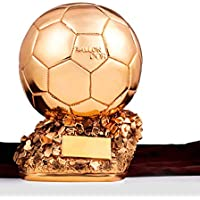 EP-Trophy WM-Fußball-Trophäe Goldener Ball-Preis Sieger-Trophäe-Replikat Galvanisierte Kupferne - Ventilator-Ventilator-Beschriftung Version,B