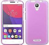 ENERGMiX Silikon Hülle kompatibel mit Alcatel Pixi 4 5.0 Zoll (5010D) Tasche Case Zubehör Gummi Bumper Schale Schutzhülle Zubehör in Pink