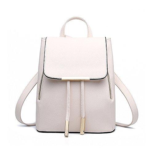 Rucksackhandtaschen,SEARCHALL pu - leder - rucksack umhängetasche gelegenheits - tasche (weiß)
