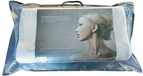 WABEZU High End Luxus Talalay-Latex Nackenstützkissen | Kopfkissen ideal für Schwitzer - sehr atmungsaktiv | Höhenvariabel | Nackenkissen hat eine softe Gesichtszone | Made in Germany