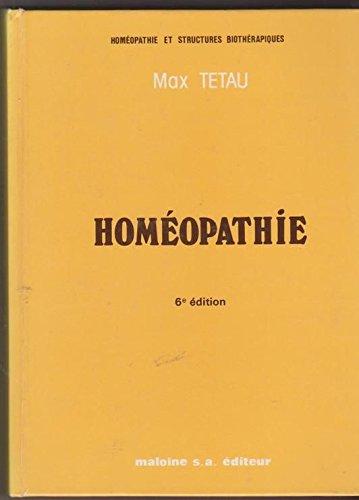 HOMEOPATHIE. 6ème édition