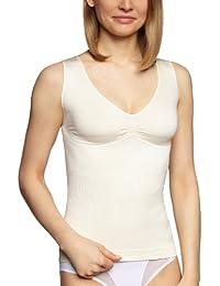 belly cloud Damen Unterhemd  figurformendes Top mit Paisley Blume