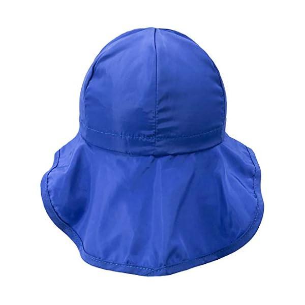 UPF50+ Sombrero de Sol con Cubrenuca para Bebé Niños Niñas Anti-UV Gorro Verano Gorrito para Playa, Natación, Pesca… 2