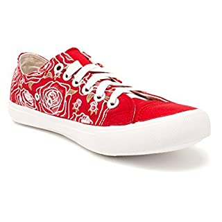 Rose Flower | Cute Flower Gym Tennis Shoes, Floral Fun Stylish Artsy Sneakers - (Lowtop, US Men's 9, US Women's 11)