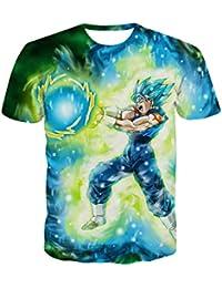 Camiseta Dragon Ball Niño Unisex 3D Impresión Hombres Camisetas y Camisas  Deportivas Camisetas de Manga Corta 472101c06c7d3