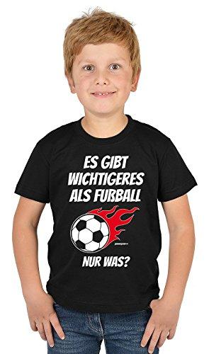 Sport/Jungen-Fun-Shirt/Boy-Shirt lustige Sprüche Fußball: Es gibt wichtigeres als Fußball. Nur was? -