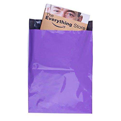 METRONIC 100PCS 15,2x 22,9cm Light Purple Poly Mailer Protected Briefumschläge Versand Taschen mit selbst selbstklebend, wasserabweisend und reißfest Bags Versandtaschen,