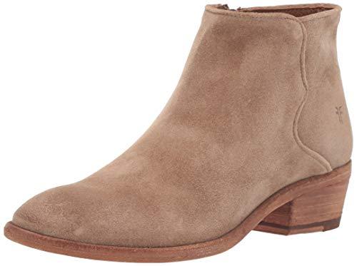 FRYE Damen Carson Piping Bootie Stiefelette, beige, 38.5 EU (Leder-jeans Frye)