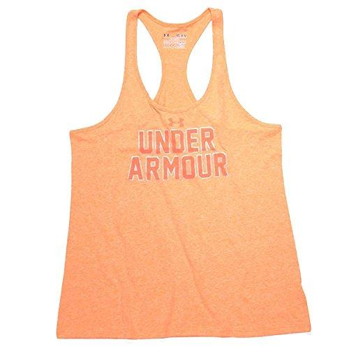 Under Armour Damen Top UA Big Logo Tri Blend Tank, Citrus Blast/Neo Pulse, L