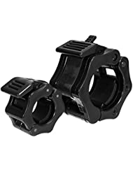 Desconocido Abrazadera para mancuerna olímpica de 25/50 mm, Negro, Diameter 25mm