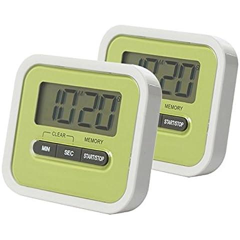 Timer da cucina digitale, timer di cottura Orologio con allarme posteriore magnetica e supporto retrattile, (Camo 5 Pin)
