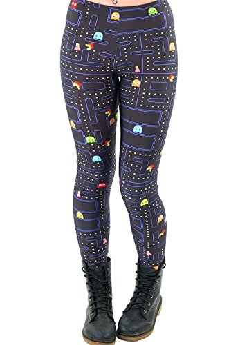 Price comparison product image Women Space Print Pants Fitness Legging Muz-man PAC-MAN LEGGINGS Woman Leggings High Quality Digital Printing Fitness Leggins