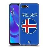 Head Case Designs Isländische Fahne Fahnen Flicken Soft Gel Hülle für Oppo K1 (2018)