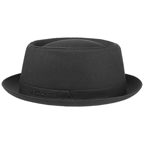 athens-cotton-pork-pie-hat-stetson-cotton-hats-mens-hats-55-cm-black