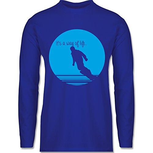 Après Ski - It's a way of life - Snowboarder - Longsleeve / langärmeliges T-Shirt für Herren Royalblau