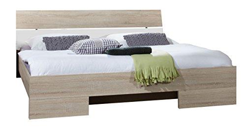 Dreams4Home Futonbett 'Prime', Eiche sägerau, weiß, 140×200, 160×200, 180×200, Bett, Schlafzimmer, Bettgestell, Bettrahmen