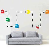 **** New **** Pacman Wall Art Sticker Kit Vinyl Kids Retro Games Room Stencil Bedroom Room Decoration