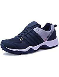 Ethics X-EVA Sole Ultra Lite Multicolored Sports Running Shoes for Men's (7 UK/India, Navy Blue)