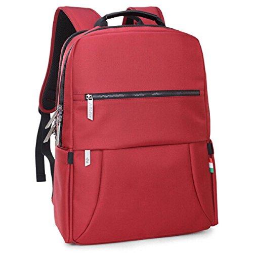 Borsa A Tracolla Del Sacchetto Dello Studente Della Scuola Media Del Grande Capienza Casuale Backpack Di Viaggio All'aperto,Black Red