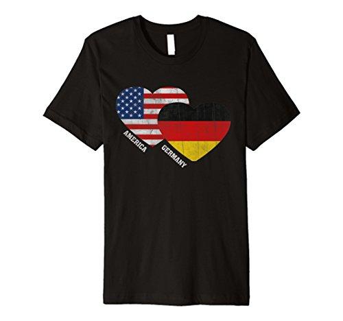Deutschland T-Shirt Flagge Deutsch-Amerikanischen Flagge Vintage T-Shirt