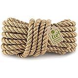 Amazinggirl Jute koord koord natuurlijk jute touw 20 mm - touw jute touw jute touw tuin knutselkoord voor huishouden handwerk