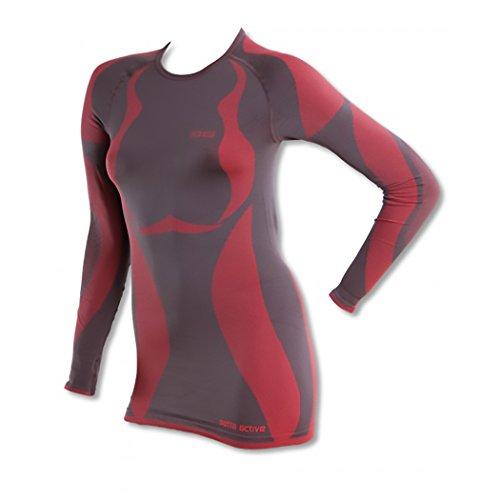 GAT t-shirt de sous-vêtement-femme-tHERMOACTIVE-brosse diamètre sEAMLESS tECHNOLOGY Rouge - Grey-Ferrari