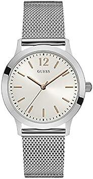 ساعة رسمية للرجال من جيس، بهيكل ستانلس ستيل، مينا باللون الابيض، انالوج - طراز W0921G1