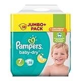 Pampers Baby-Dry - Pañales para bebé, talla 7, 58 unidades