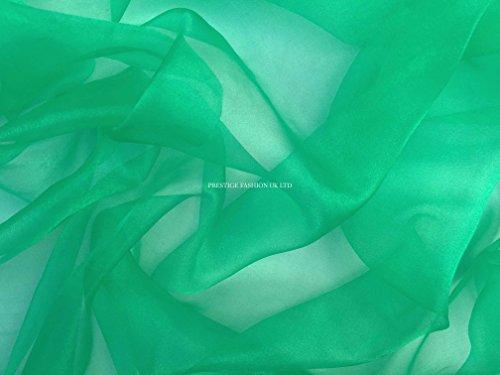 Prestige Designer Snow Kristall Organza Voile Stoff UK Großhändler-Meterware smaragdgrün