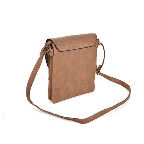 Premium Leather, Borsa a tracolla donna apricot