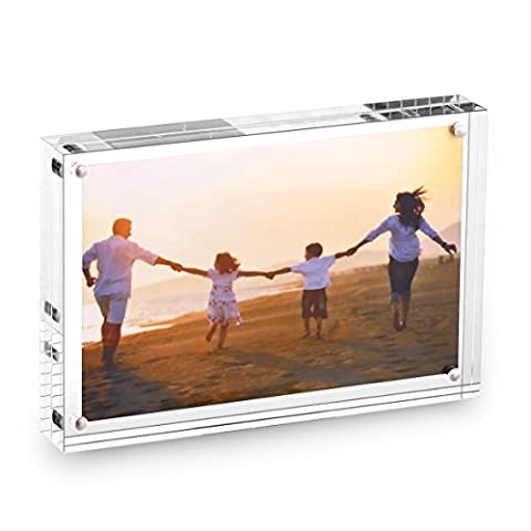 HESIN® 3.5 by 5 inch Clear Acrylic Photo Frame Thickness