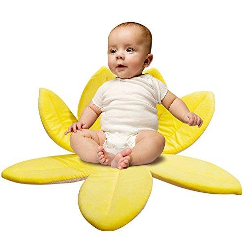 Gepolsterte Baby Badewannensitz fürs Baden (Gelb)