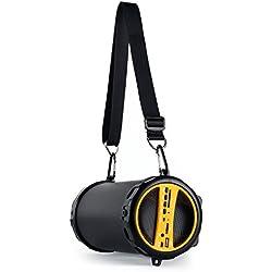 """auna Dr. Beat • Enceinte Bluetooth 2.1 • Enceinte Portable • Radio intégrée • Jusqu'à 5 Heures d'autonomie • Port USB • MiniUSB/DC 5V • Subwoofer: 3"""" • Câble Mini USB • Batterie: 1000mAh • Jaune"""
