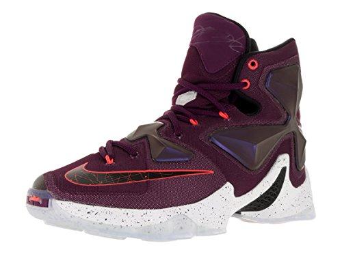 Nike Herren Lebron Xiii Basketballschuhe, Talla Rosa / Schwarz / Silber / Lila (gelso / Blk-pr Prpl Pltnm-vvd)