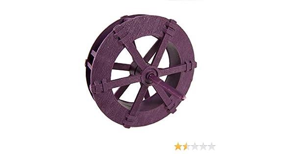 Wasserrad Mühlrad aus Kunststoff für Mühle Weihnachtskrippe Dekoration 7 cm.
