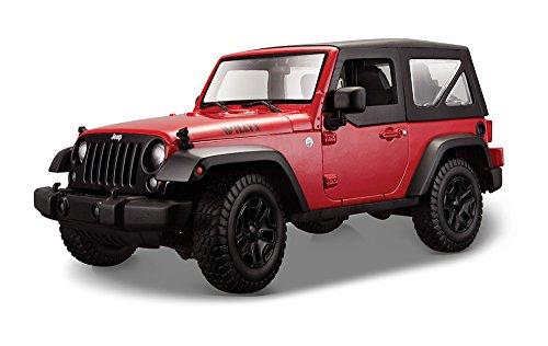 Maisto 31676 - Jeep Wrangler Modellino, Scala 1:18, Colori Assortiti: Giallo/Rosso