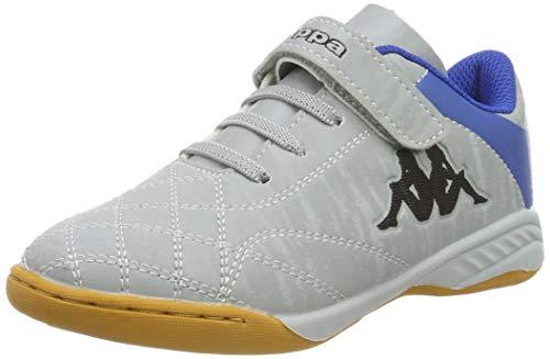 Kappa Unisex-Kinder HATTRICK Kids Sneaker, Silber (Silver/Blue 1560), 36 EU -