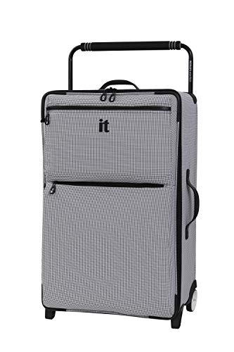 it luggage World's Lightest Urbane 2 Wheel Super Lightweight Suitcase Koffer, 75 cm, 72 liters, Grau (Black/White Two Tone)