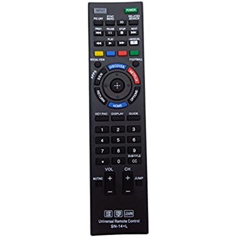 Vinabty - Mando a distancia universal, apto para la mayoría de TV y TV de alta definición de Sony con pantalla LED y LCD, con función de