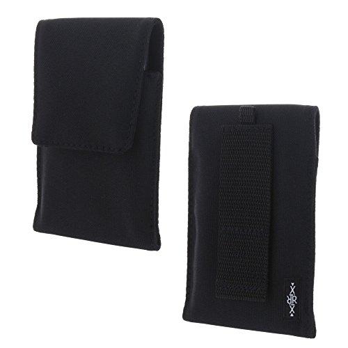 XiRRiX Handy Hülle Etui Tasche XL passend für BQ Aquaris X Pro/CAT B35 / Samsung Galaxy Xcover 4 A3 A5 J3 J5 2017 S8 S9 - schwarz
