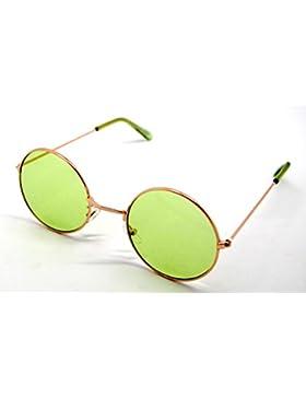 Gafas de Sol Hippie Retro Redondas Lagofree Alta Calidad UV400 Sunglasses Verde