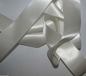 Ruban Double en satin ivoire 1m x 50mm de qualité supérieure pour £ 1,25