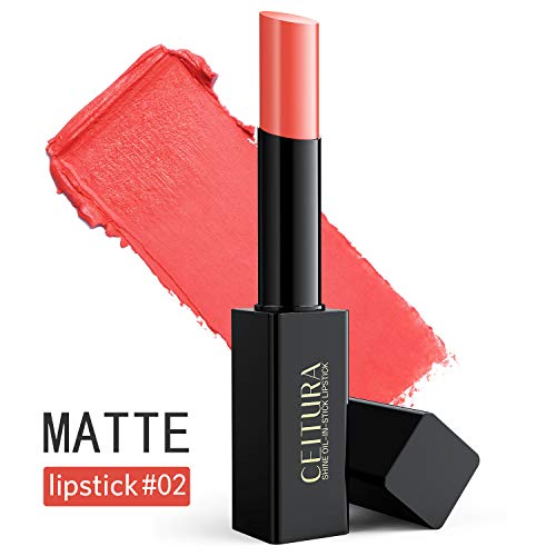 CEITURA Moisture Matt Lippenstift für Nacktes Make-up Pflegender and Lange andauerndgepflegte, 002, 1 pack