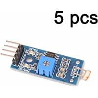 lonfener 5unidades lm 393Light Detection óptico sensible Obstrucción Sensor Module Sensor receptora para Arduino 4Pin
