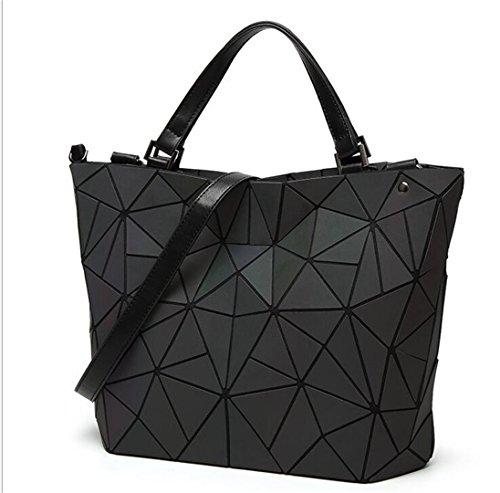 Frauen Baobao Bag Diamond Tote Geometrie gesteppte Schulter Taschen Laser Normalpapier Falten Handtaschen Bolso Baobao leuchtende Big 1 -