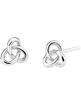 iszie Schmuck Sterling Silber Klein Keltisches Herz Knoten Ohrstecker Damen oder Kinder Fashion Ohrringe