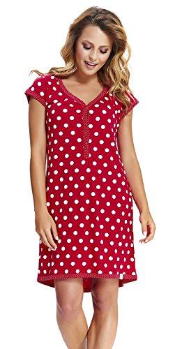 DN, Nachthemd, TM 5038, red, Gr. XL (Baumwolle-xl Aus Nachthemd)