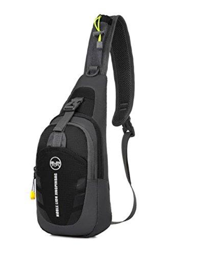 BULAGE Tasche Draußen Brusttasche Messenger Multifunktions Lässig Tragbar Päckchen Sport Taschen Black